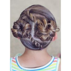 Here's a fun style for summer :). Diagonal rope twists into messy buns. ☀️☀️