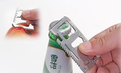 Tactical Army Knife Card Life-saving Card Multifunctional Tool Card Large has 16 functions, such as can opener, knife, screwdriver, wrench and so. Come and shop the best quality. Beer Bottle Opener, Gadget Gifts, Tactical Knives, Antara, Outdoor Survival, Multifunctional, Tool Kit, Can Opener, Tools