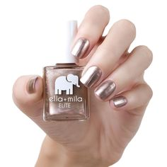 ella+mila Nail Polish Mommy Collection Party In a Bottle - fl oz Nail Polish Bottles, Glitter Nail Polish, Gold Nails, Nail Polishes, Pink Nails, Essie, Christmas Manicure, Champagne Pop, Nails At Home