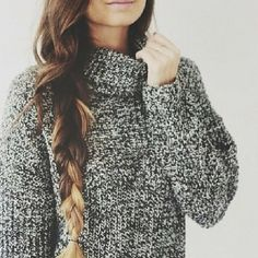 long hair dont care. also love the sweater