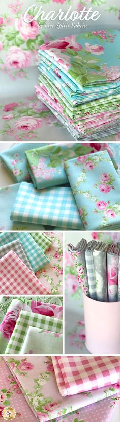 Charlotte by Tanya Whelan for Free Spirit Fabrics is a delightful floral collection available at Shabby Fabrics!