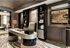 Top 10 Luxury Home Offices | Library / Study | Pinterest | Office ...