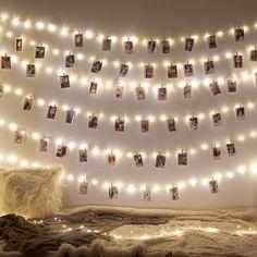 DIY Photo Clip String Lights - Warm White / 2m/20led's/10clips