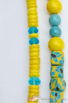Aqua and yellow