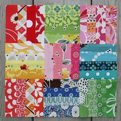 Scrappy Fence Rail I LOVE THIS! Patchwork Quilting, Scrappy Quilts, Easy Quilts, Mini Quilts, Quilting Tutorials, Quilting Projects, Quilting Designs, Sewing Projects, Quilting Ideas