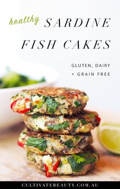 "Do you grimace at the thought of eating sardines, but still want in on the health benefits? If so, we have the recipe for you! In this post, we're sharing a simple, tasty recipe that will shift your perspective on eating sardines: sardine fish cakes. Whether you're new to sardines or just not a fan, this ""disguising technique"" is a great way to enjoy the numerous health benefits of sardines...without the strong taste Not to mention, this recipe is gluten, dairy + grain free! Click t....."