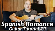 Guitar Lesson Spanish Romance - Classical Guitar Tutorial Note-By-No. Classical Guitar Lessons, Basic Guitar Lessons, Online Guitar Lessons, Guitar Lessons For Beginners, Online Lessons, Spanish Lessons, Learning Spanish, Guitar Youtube, Guitar Tutorial