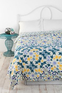 Vibrant, reversible duvet made just for #UrbanOutfitters by Caitlin Mociun