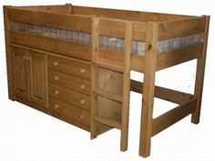 Solid pine cabin bed - these are great if you are short on space.