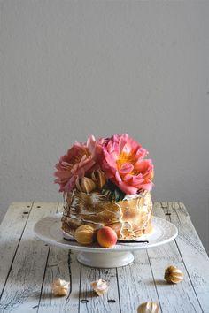 Apricot, Caramel and Buffalo Ricotta Cake | Eat in My Kitchen
