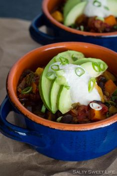Smoky Chipotle Vegan Chili with Cashew Cream - Salty Sweet Life #vegan ...