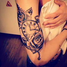 #pocketwatch #tattoo #tatuering #Göteborg #hisingen #rosetattoo #rose #carlgaddare Web Instagram User » Collecto