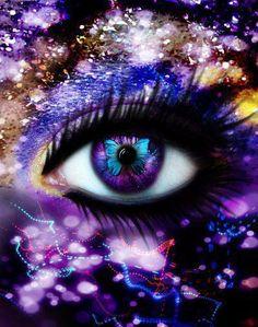 purple eyes #arty
