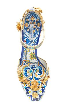Majolica Ceramic Mary Jane Pump by DOLCE & GABBANA for Preorder on Moda Operandi