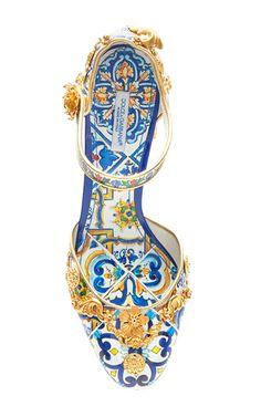 Majolica Ceramic Mary Jane Pump by DOLCE & GABBANA for Preorder on Moda Operandi