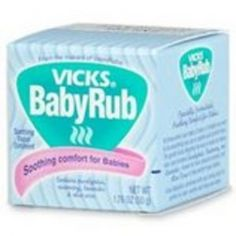 """Use Baby Vapor Rub on babies feet at bedtime and put in a sock, booties or footie PJs. Helps decongestant and elongate coughing up to 8 hours. I applied to my sick 18 month old tonight and he fell asleep asleep within minutes. This is definitely my """"go to"""" remedy"""