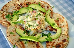 Gluten Free Quesadilla with a Sweet & Spicy Endive Slaw. These were made with our Udi's GF Tortillas!