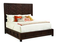 Shop for Caracole Large As Life, cas-calbed-001, and other Bedroom Beds at Osmond Designs in Orem Lehi & Salt Lake City, Utah. Inspired by a Spanish gate, each piece is handcrafted and assembled like a jigsaw puzzle to create this statement bed! The depth and detail of the carving is quite amazing.