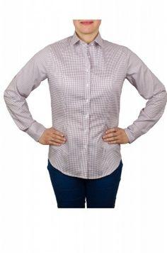 Bordová károvaná dámska košeľa