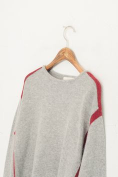 Olive - Combi Colour Border Wool Jumper, Grey, £59.00 (http://www.oliveclothing.com/p-oliveunique-20150814-022-grey-combi-colour-border-wool-jumper-grey)