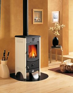 The Micaela Wood Burning Fireplace is a compact, free standing fireplace. This Fireplace will easily heat a 60m2 area.