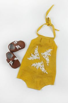 Handmade Romper / Bee Yang Couture on Etsy
