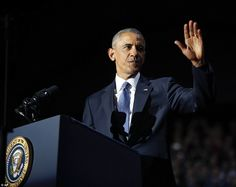President Barack Obama received a hero's welcome in Chicago on Tuesday night as he took th...