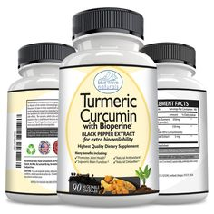 Potent Turmeric Curcumin Veggie Capsules with Bioperine® Black Pepper Extract and 95% Curcuminoids for Joint Pain Relief, Protection From Cell Damage, Improved Brain Function, Younger Looking Skin >> Wow! I love this. Check it out now! : Herbal Supplements