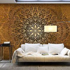 Vlies Fototapete 350x245 Cm   Gold   Top Tapete Wandbilder XXL Wandbild  Bild Fototapeten Tapeten Wandtapete