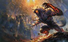 Monster Magic Smite Games Fantasy werewolf demon dark