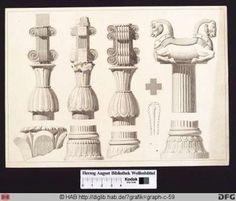 Details der Säulen von Persepolis   Herzog August Bibliothek