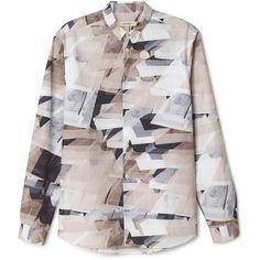 Hammond print shirt ❤ liked on Polyvore