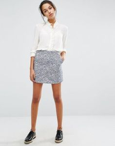 Suncoo Printed Mini Skirt