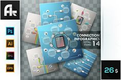 Connection Infographics Set by AndrewKras on Creative Market