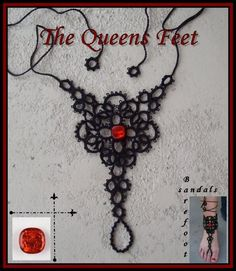 The Queens Feet Barefoot Sandals  *I want to try this as a slave bracelet.  No way would I ever make anything for feet. Yuck.  :-)