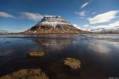 Mountain Kirkjufell under a blue moon - Snæfellsnes, west Iceland