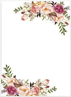 Image Result For Watercolor Floral Border Paper Printable With