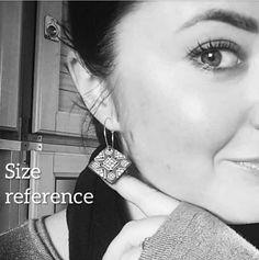 MATTONELLE earrings  hoops image 3 Diamond Earrings, Hoop Earrings, Etsy, Image, Jewelry, Handmade Gifts, Hand Made, Jewlery, Jewerly
