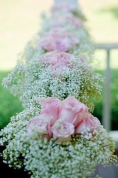babys breath + soft pink roses - Braselton Stover House wedding by We Do Wedding Photography