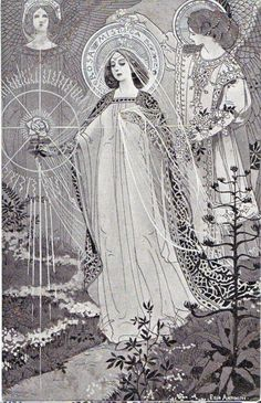 The Loreto Litany ~ Tiburzio Ezio Anichini Blessed Mother Mary, Blessed Virgin Mary, Religious Images, Religious Art, Ink Illustrations, Illustration Art, Images Of Mary, Queen Of Heaven, Daughters Of The King