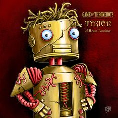Description: TYRION LANNISTER-BOT - Game of ThroneBot illustration series This is an 8.5 x 8.5 GICLEE PRINT of an illustration completed by Billi French This art piece was completed digitally using Photoshop Printing: Final print is printed on art quality Hammermill Digital cover 80 lb Paper using an Epson SureColor P400 Photo Printer  Shipping Details: Prints are shipped in a flat rigid cardboard mailer sandwiched between two flat cardboard pieces  Thanks for browsing my artwork and please…