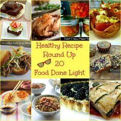 Healthy Recipe Round Up 20 www.fooddonelight.com #healthyrecipes