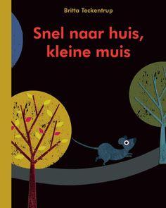 """In """"Snel naar huis, kleine muis"""" zitten angstaanjagende gaten. Een muisje is 's nachts nog op stap in het bos. Hij wil naar huis, maar hij ziet steeds ogen in het donker. Van welke enge roofdieren ..."""