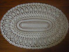 Crochet Pineapple Oval Doily