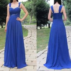 Bg728 Royal Blue Prom Dress,Chiffon Prom Dress,Long Prom