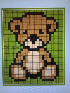 Pearler Bead Patterns, Perler Patterns, Fuse Beads, Perler Beads, Pixel Art, C2c Crochet, Knitting Charts, Christmas Cross, Toy Store