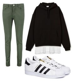 """""""Simply outfit for school"""" by eradimakova on Polyvore featuring Boohoo, Zadig & Voltaire and adidas"""
