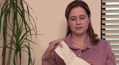"""When Pam found Jim's list of winners and losers. 