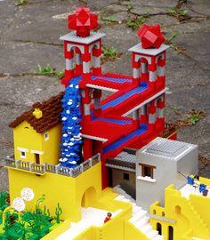 "Escher's ""Waterfall"" in LEGO"
