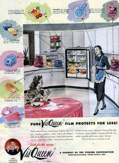 plastics are the future! 1948 saran wrap ad